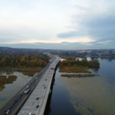 Aerial photo: SR-520 Montlake to Lake Washington project 6