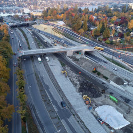 Aerial photo: SR-520 Montlake to Lake Washington 2