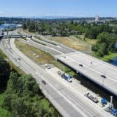 Aerial photo: SR-520 Montlake to Lake Washington project 8