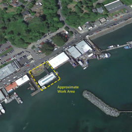 Aerial photo: Newport Bayfront Wharf