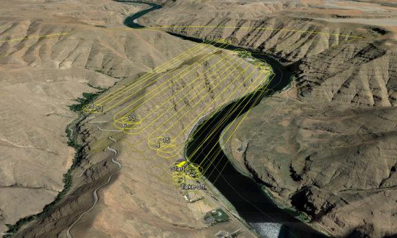 PBS UAS Drone Surveying - Flight Path