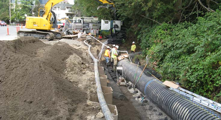Meydenbauer Creek Bank Stabilization & Sewer: Project photo 2